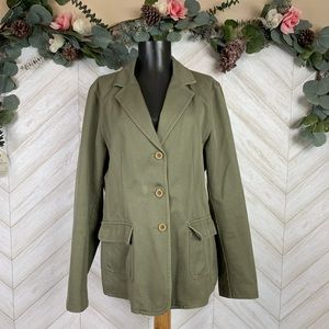 L. L. Bean Women's Camo Green Blazer Large